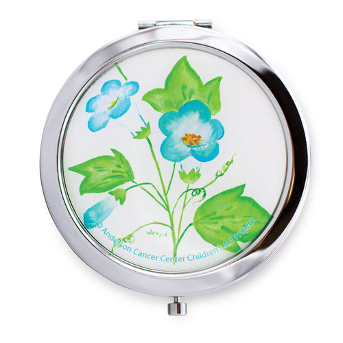 Blue Blossoms Compact