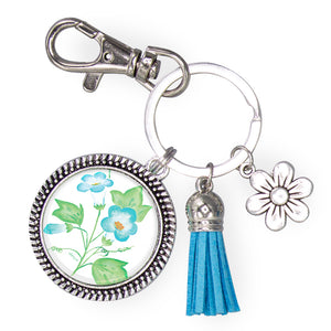 Blue Blossoms Keychain
