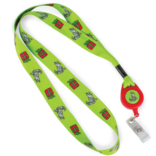 Dog And Present Lanyard