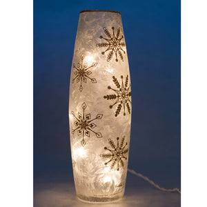 Snowflakes Frosted Lit Glass
