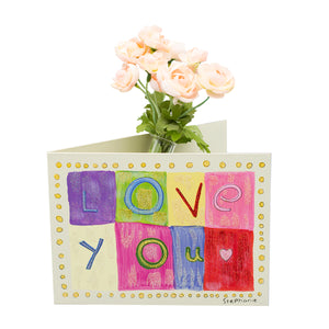 Love You Card Vase