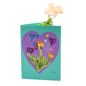Purple Heart Card Vase
