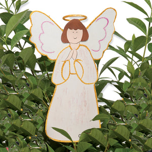 White Angel Medium Decorative Metal