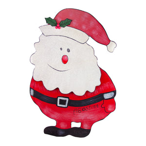 Santa Fluff Large Decorative Metal