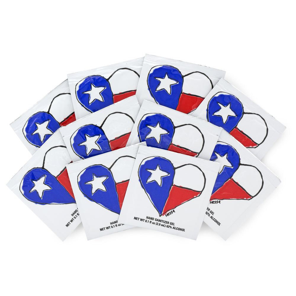 Texas Heart Hand Sanitizer - 10 Pack