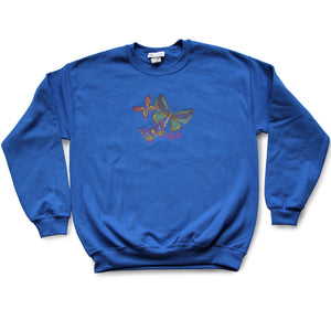 Butterflies Fleece Crew Neck