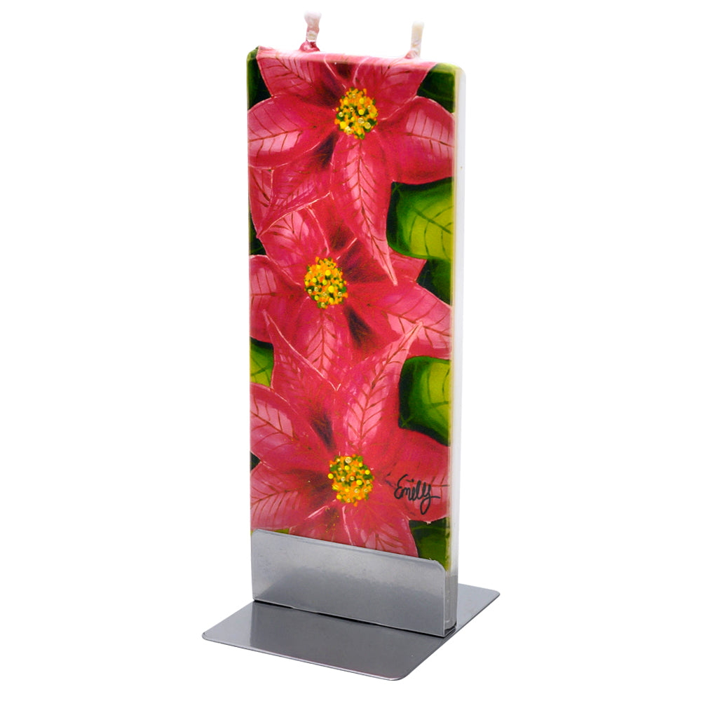 Vibrant Poinsettias Candle