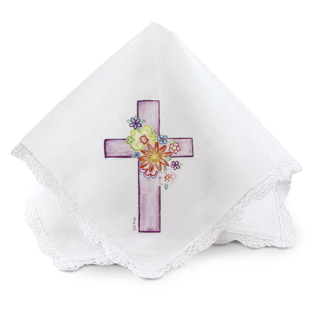 PURPLE CROSS HANDKERCHIEF