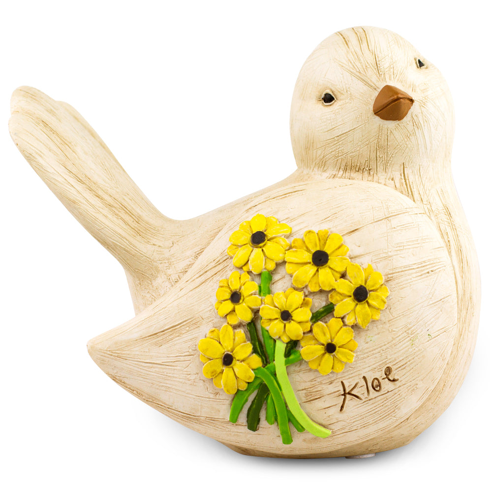 Sunflower Dove Figurine