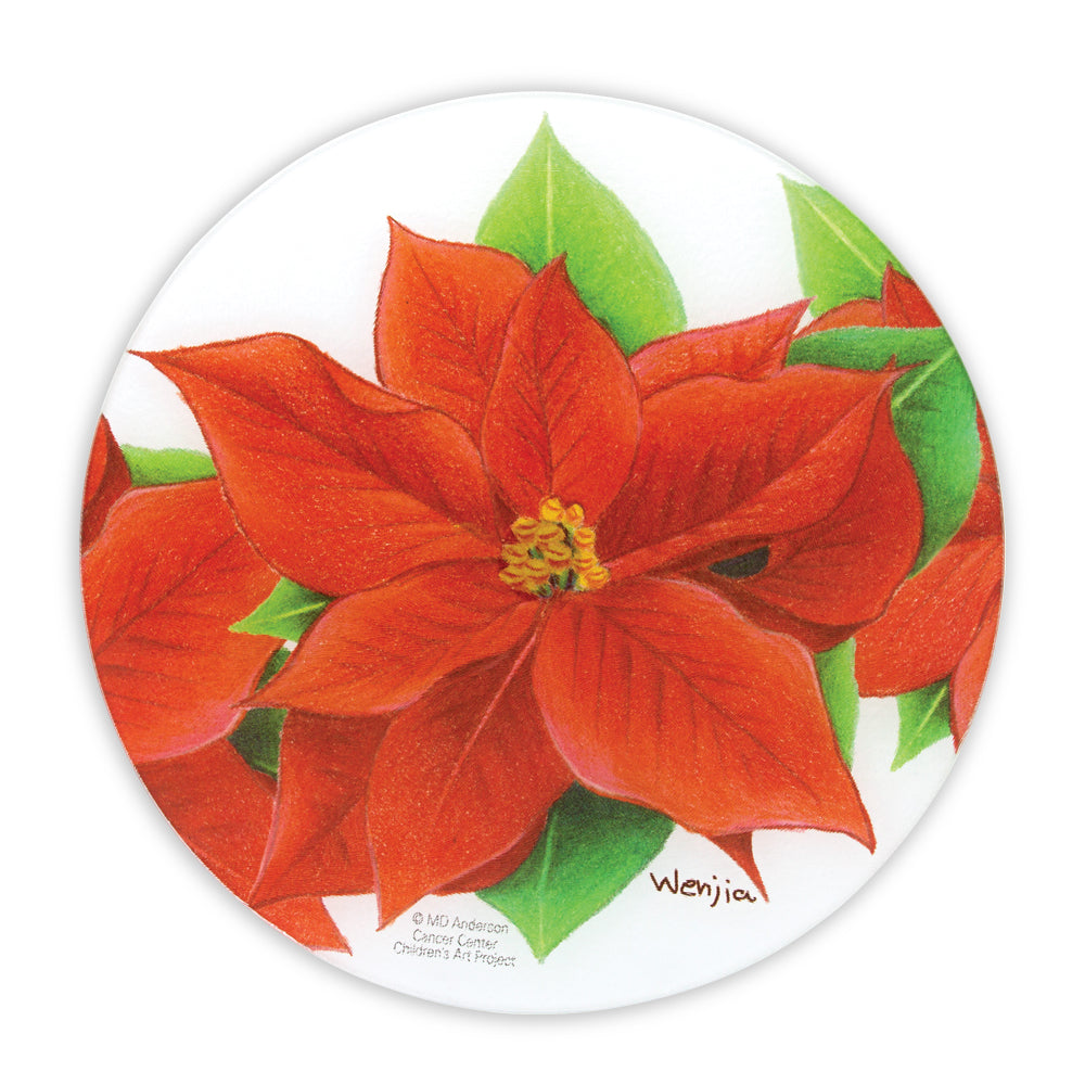Poinsettia Lazy Susan