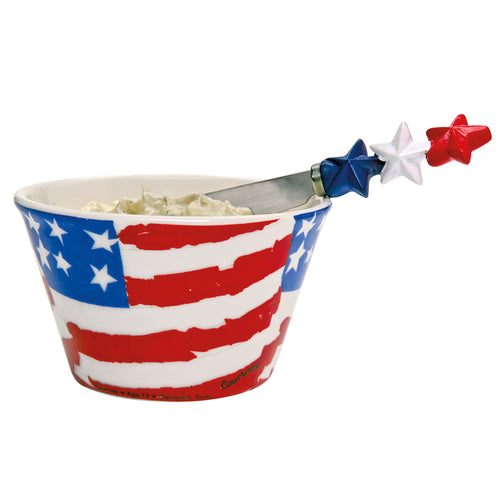 Flags Bowl & Spreader