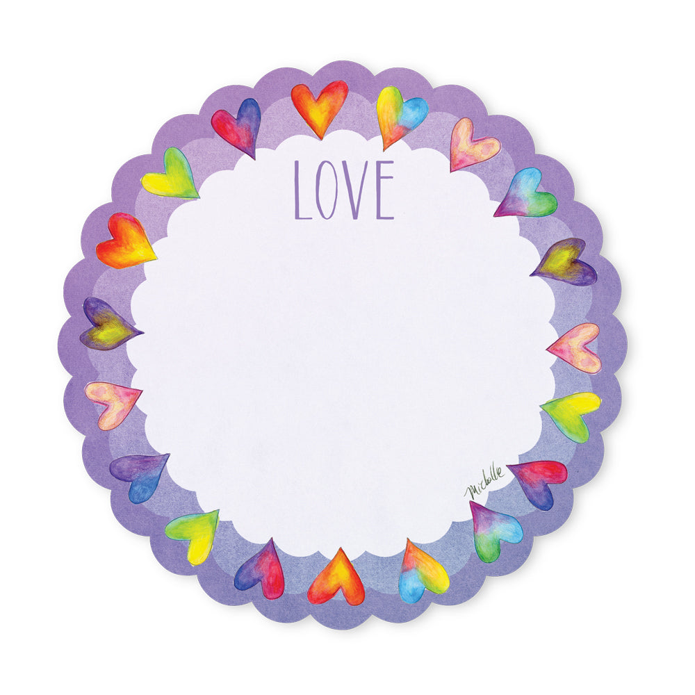 Hearts Sticky Notepad