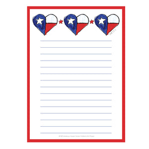 Texas Heart Notepad