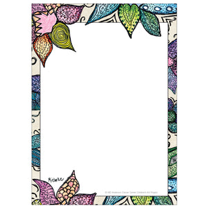 Flower Pattern Notepad