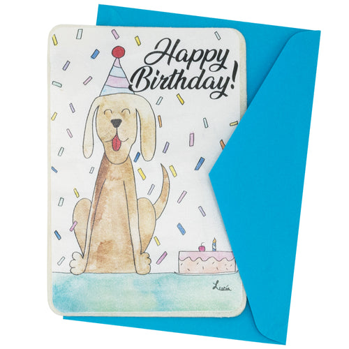 Puppy Birthday Rawhide Card