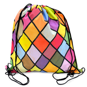 Harlequin Drawstring Backpack