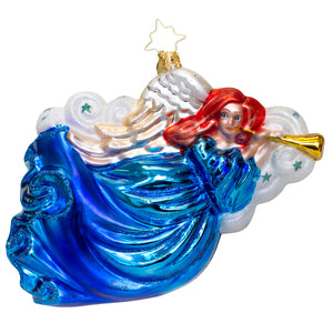 Trumpet Angel Radko Ornament