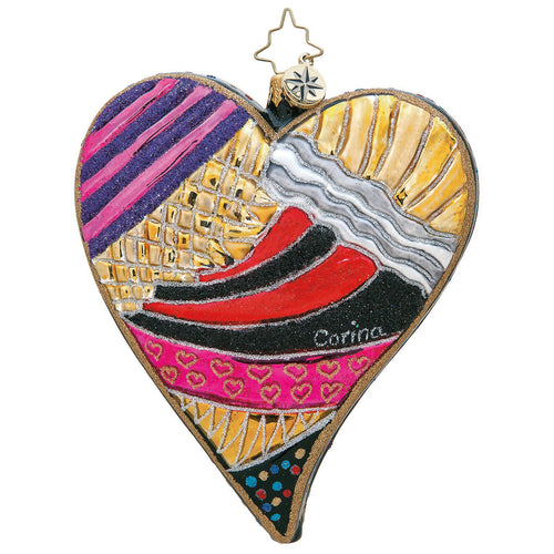 Aztec Heart Radko Ornament