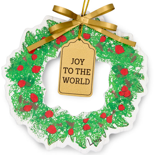 Wreath Ornament - Joy to the World
