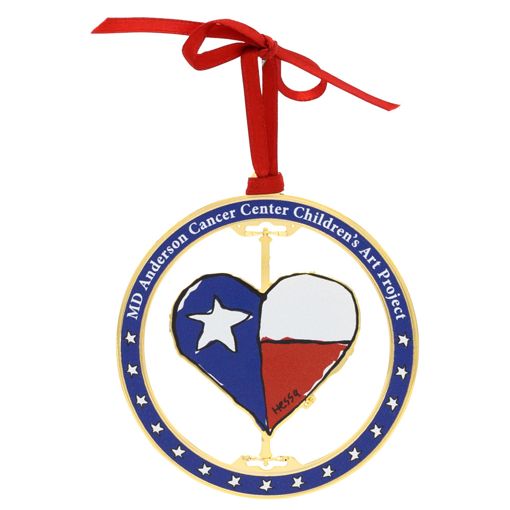 Texas Heart 3D Ornament