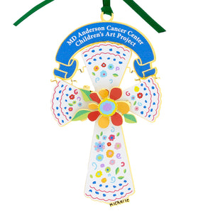 Flower Cross 3D Ornament