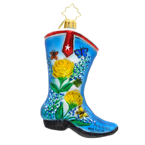 Yellow Rose Boot Radko
