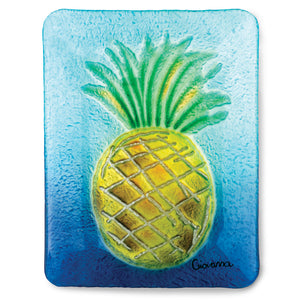Pineapple Fused Glass Plate