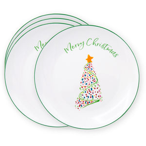 "8"" Tree Plate - Set Of 4"