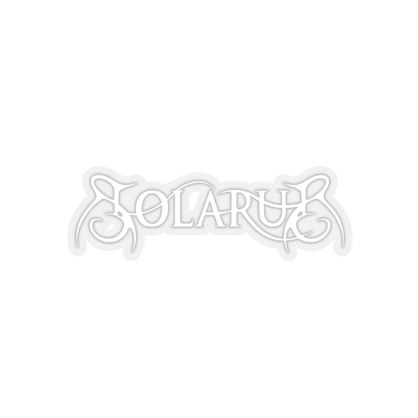 Solarus Logo White Sticker - Solarus Metal