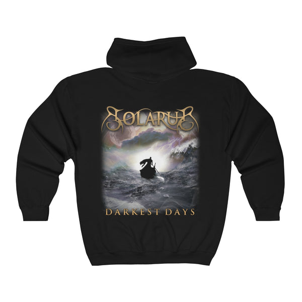 Darkest Days Unisex Zip Hooded Sweatshirt - Solarus Metal
