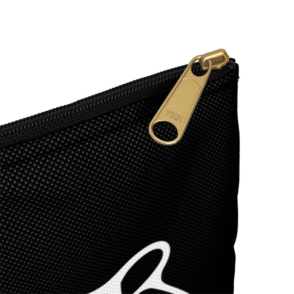 Black Zip Pouch with Band Logo - Solarus Metal