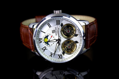 Imperial Brown-Silver Automatic Watch