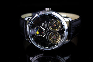 Imperial Black-Silver Automatic Watch