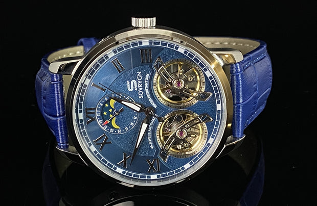 Imperial Blue-Silver Automatic Watch