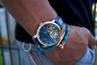 Imperial Blue-Rose Automatic Watch