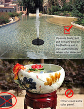 Solar Powered Garden Fountain