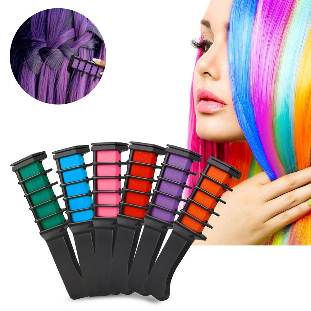 Professional Temporary Hair Dye Comb 6 Color Set Or Individually