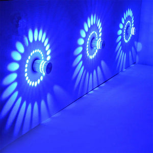 RGB Spiral LED Wall Light