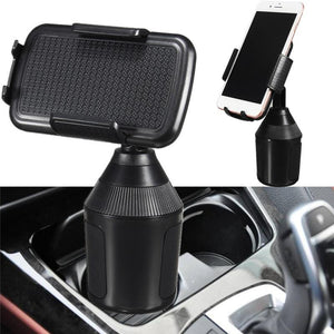 Adjustable Cell Phone Cup Holder Mount (Compatible With iPhone & Droid)