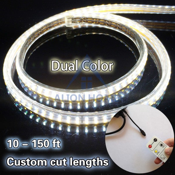 White + Warm White SMD 2835 Dual-Color LED Strip Lights 100ft