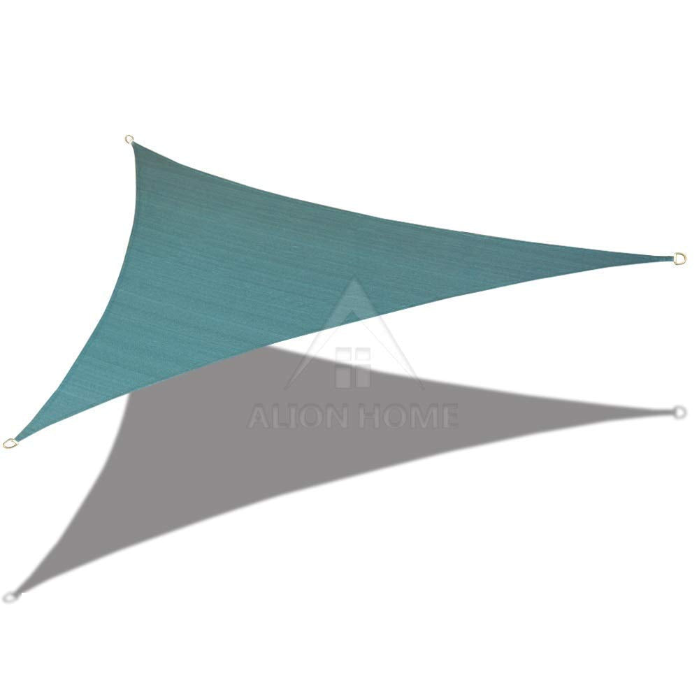 (9ft x 9ft x 12.7ft) Right Triangle Waterproof Woven Sun Shade Sail Custom - Vibrant Colors)