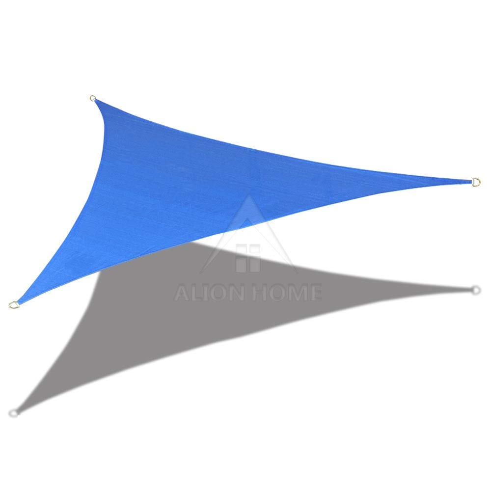9' x 9' x 12.7' Right Triangle PU Waterproof Woven Sun Shade Sail Custom (Vibrant Colors)