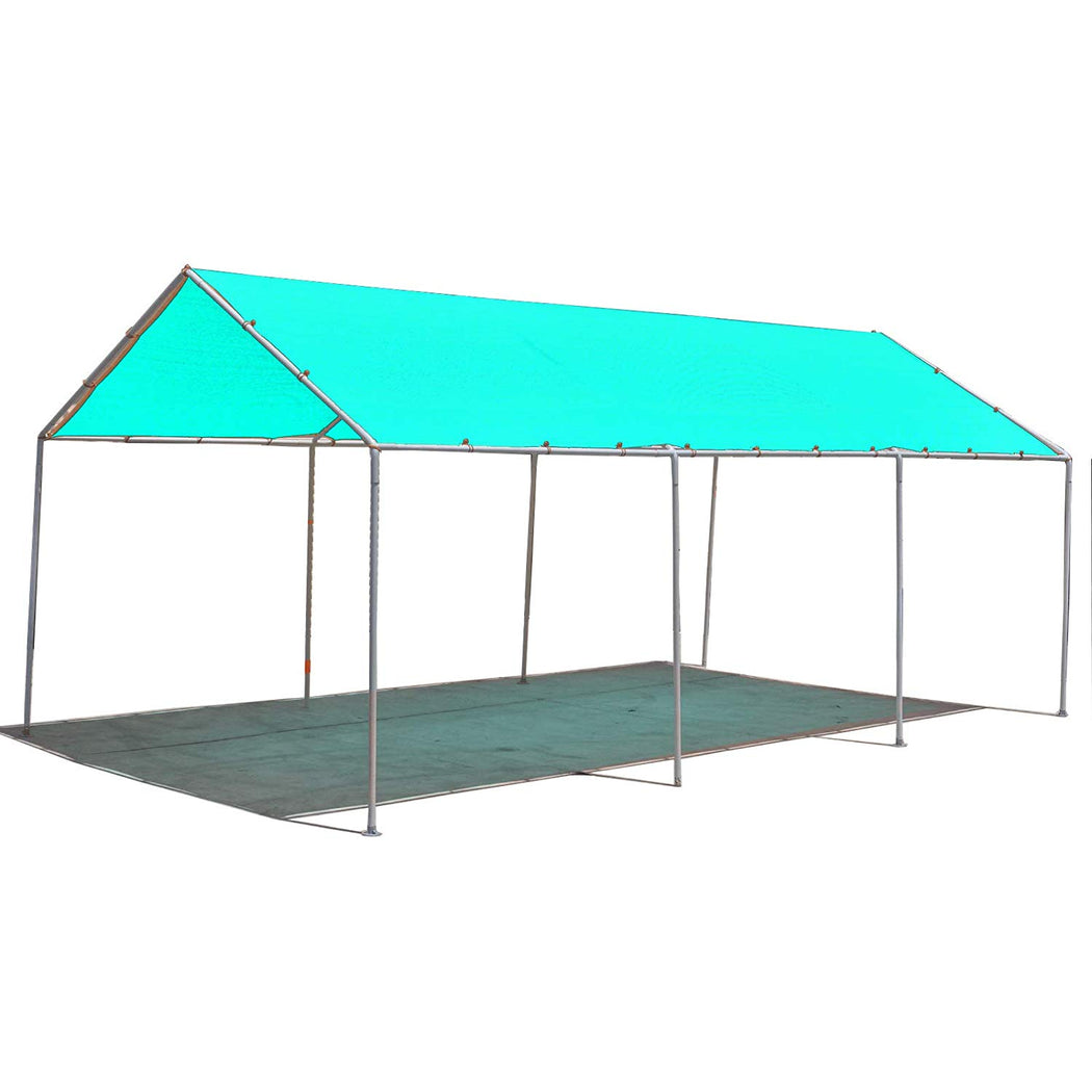 Carport Replacement Permeable Sun Shade Cover (Frame Not Included) - Turquoise
