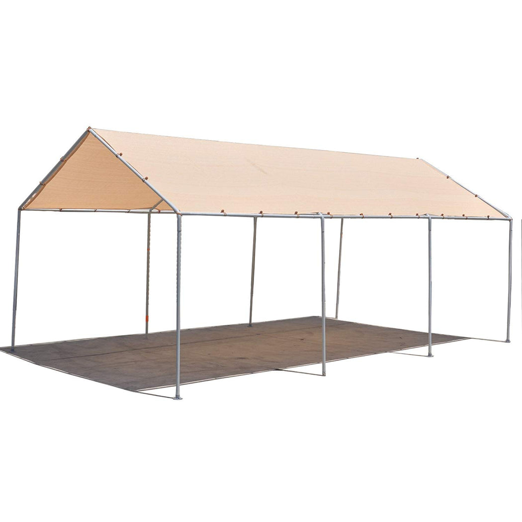 Carport Replacement Permeable Sun Shade Cover (Frame Not Included) - Banha Beige *LISTED SIZES ARE NOT CARPORT SIZE*