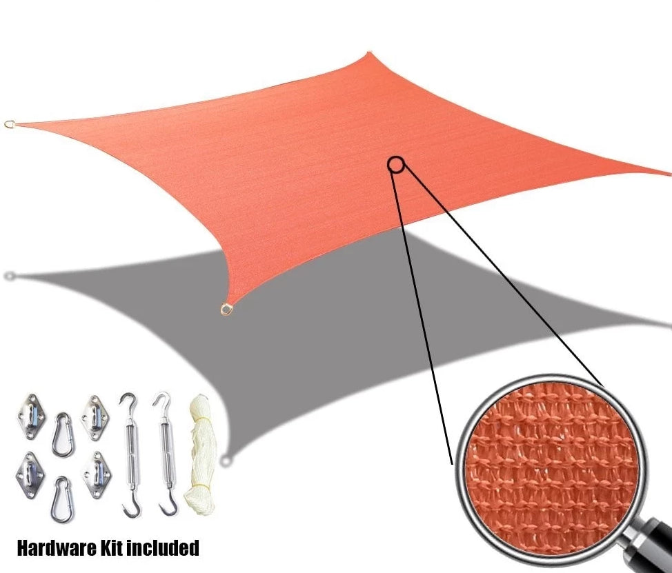 Alion Home Custom Sized Sun Shade Sail W Stainless Steel Hardware