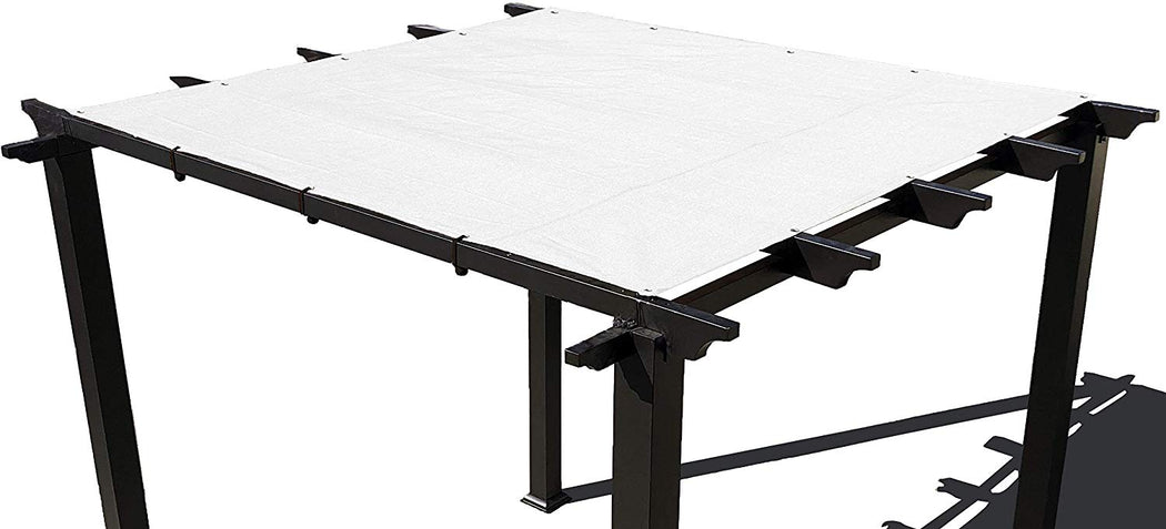 HDPE Pergola / Patio Cover Panel w/ 4 side hems and grommets  - White
