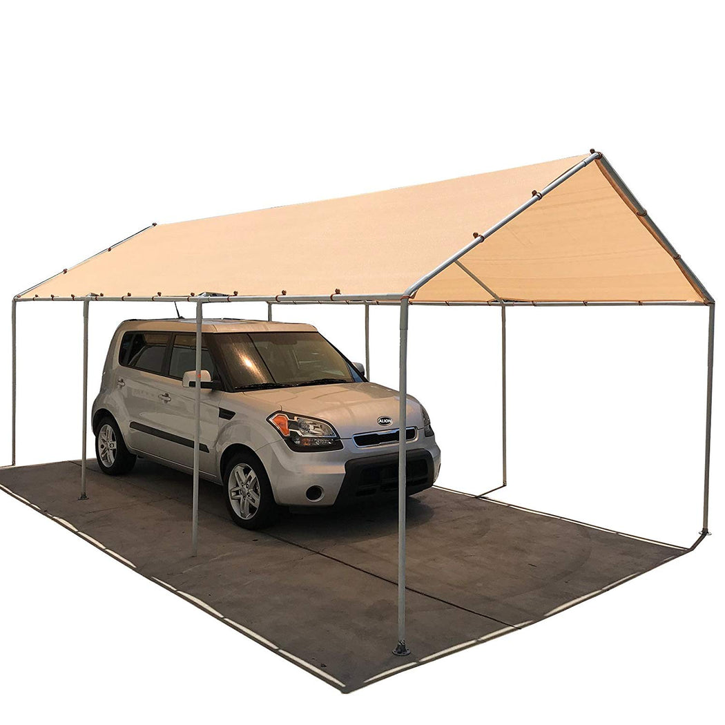 Carport Replacement Permeable Sun Shade Cover (Frame Not Included) - Banha Beige