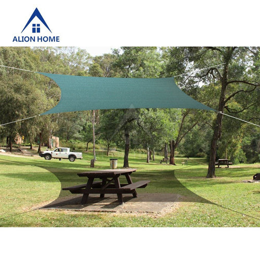 Alion Home HDPE 180 GSM Sun Shade Sail - DARK GREEN