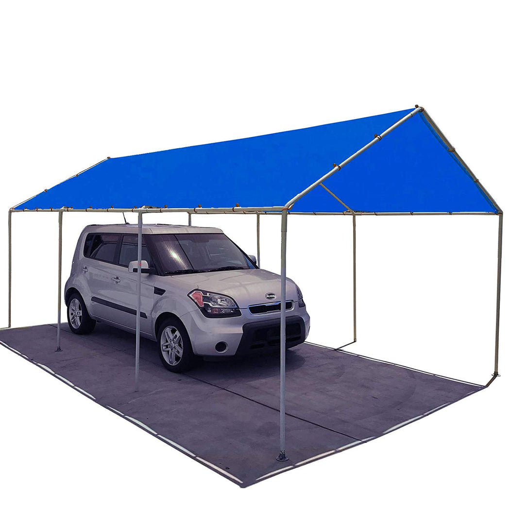 Carport Replacement Permeable Sun Shade Cover (Frame Not Included) - Blue
