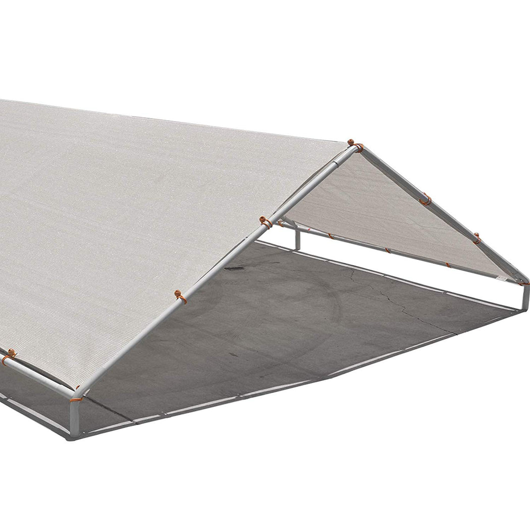 Carport Replacement Permeable Sun Shade Cover (Frame Not Included) - Smoke Grey